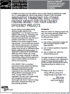 Screeshot of article: Innovative Financing Solutions: Finding Money for Your Energy Efficiency Projects