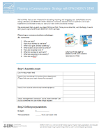 Image of the first page of the Planning a Communications Strategy with ENERGY STAR worksheet.