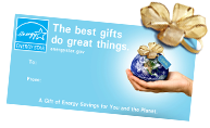 The best gifts do great things. A gift of energy savings for you and the planet.