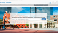 ENERGY STAR Certified Buildings & Plants Registry interface