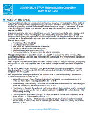 front page of rules document