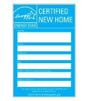 ENERGY STAR New Home Certified label
