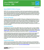 2021 About ENERGY STAR Products Factsheet thumbnail