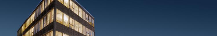 Building against a blue sky