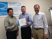ConAgra Foods Ogden, UT facility personnel are congratulated by EPA's Region 8 Administrator, Shaun McGrath.