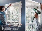 Applying Plastic Over Windows