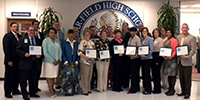 photograph of Prince William County Schools Energy Star Award winners