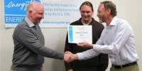 EPA R8 Administrator presenting ENERGY STAR certification to plant manager