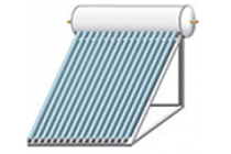 image of a solar water heater