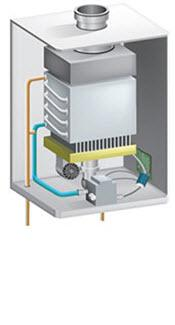 image of a tankless gas water heater