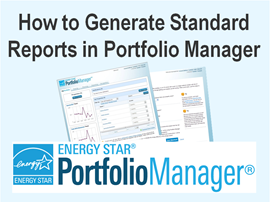 How to Generate Standard Reports in Portfolio Manager