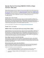 ENERGY STAR Homes Web Linking Sample Text - Verification Organizations