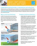 ENERGY STAR Certified Air Source Heat Pumps Fact Sheet