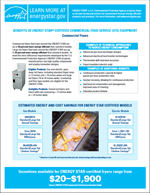 screenshot of the Commercial Fryers Factsheet
