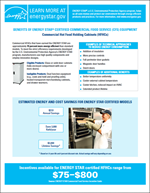 Screenshot the Commercial Hot Food Holding Cabinets (HFHCs) Factsheet