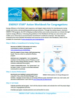 ENERGY STAR Action Workbook for Congregations Summary