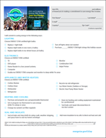 screenshot of the ENERGY STAR Paper Pledge form