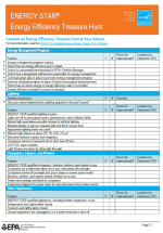 Energy Efficiency Treasure Hunt Checklist thumbnail