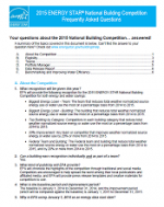 front page of FAQ document