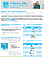 ENERGY STAR Gas Water Heater Factsheet thumbnail