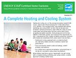 Certified New Homes - Heating and Cooling System Fact Sheet