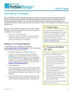 First page of how to set up your property in Portfolio Manager