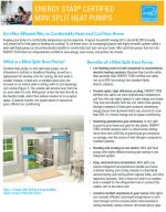 ENERGY STAR Certified Mini Split Heat Pumps Fact Sheet