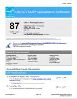 Sample ENERGY STAR Application for Certification