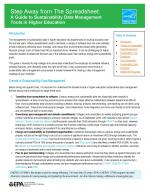 First page of Step Away from the Spreadsheet: A Guide to Sustainability Data Management Tools in Higher Education
