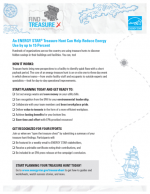 Screenshot of one-page Treasure Hunt handout