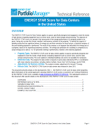 "Screenshot of the first page of the technical guidance, ""ENERGY STAR score for data centers"""