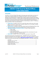 "Screenshot of the first page of the technical guidance, ""ENERGY STAR score for medical offices"""