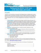 This is a screenshot of the first page of the technical documentation for ENERGY STAR score for parking.