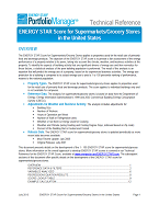 "Screenshot of the first page of the technical guidance, ""ENERGY STAR score for retail stores and supermarkets"""