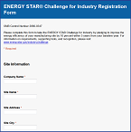 Challenge for Industry registration form