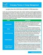 This image shows the first page of the Emerging Themes in Energy Management 2014 document.