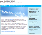 screen shot of the Join ENERGY STAR Webpage
