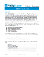 "Screenshot of the first page of ""Portfolio Manager Technical Reference: ENERGY STAR Score"""
