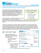 First page of the Portfolio Manager Custom Reporting Guide.