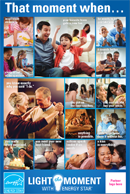 Light the Moment Co-brandable seasonal moments collage poster