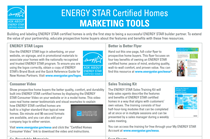 ENERGY STAR Certified New Homes - Overview of Marketing Tools