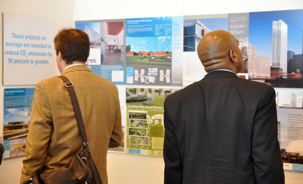 Photo of people looking at ENERGY STAR booth
