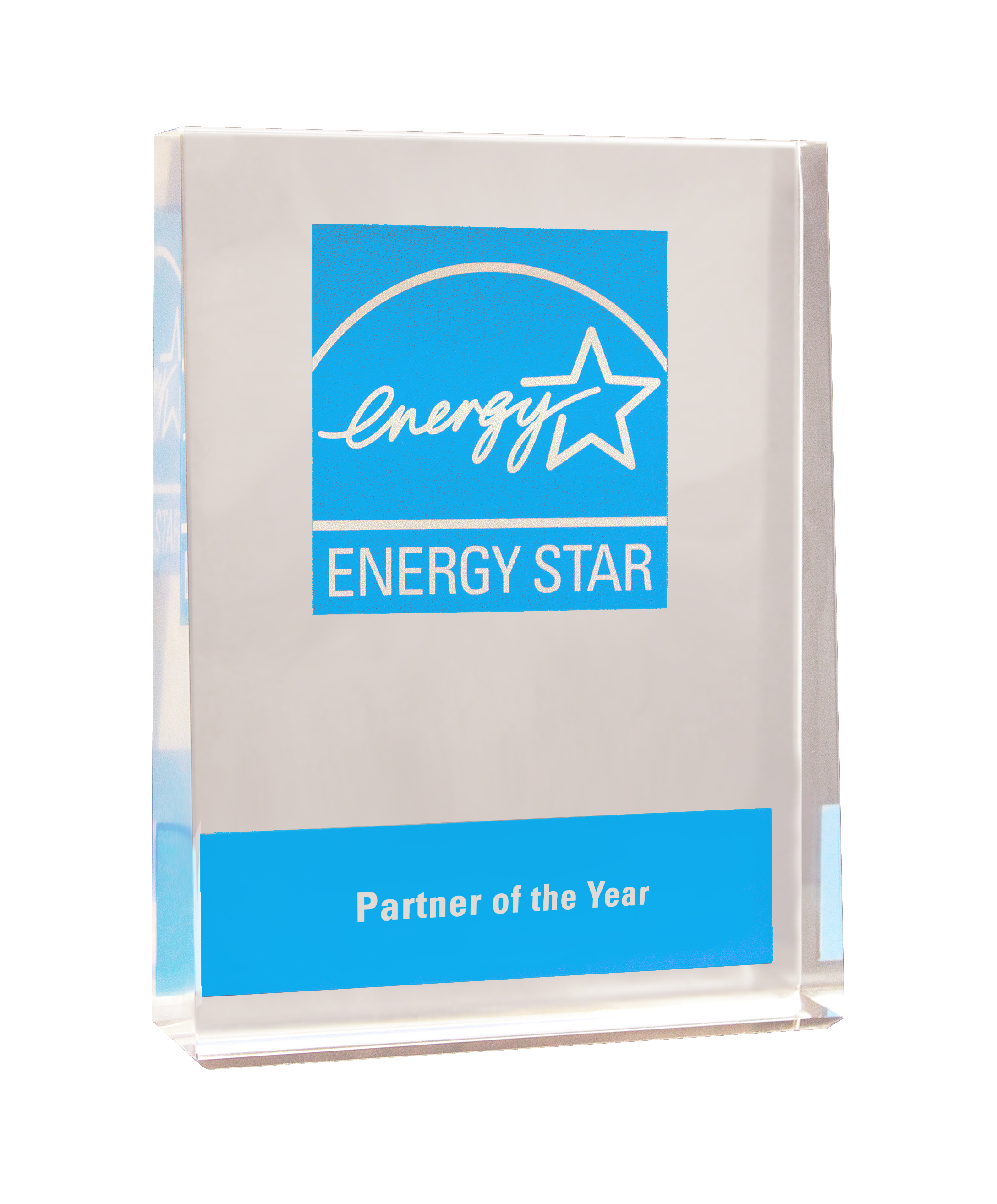 Partner of the Year Award crystal
